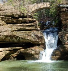 Upper Falls in Hocking Hills State Park at Old Man's Cave